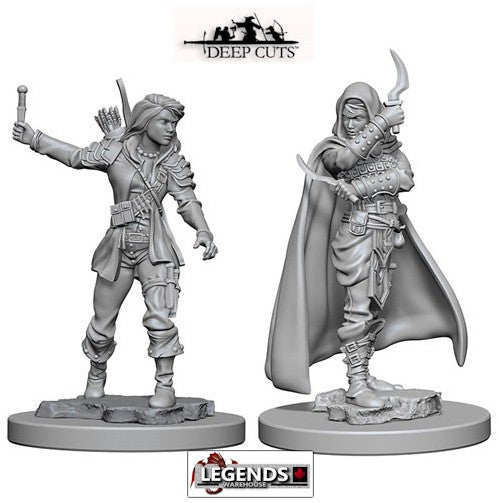 Deep Cuts - Unpainted Miniatures: Human Female Rogue (2)  #WZK72603