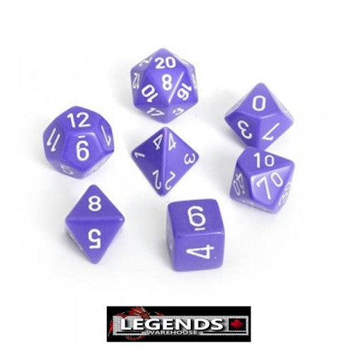 CHESSEX ROLEPLAYING DICE - Opaque Purple 7-Dice Set  (CHX 25407)