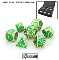 DIE HARD METAL DICE - Gold Emerald - Gemstone Collection