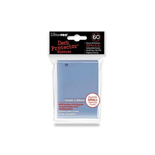 ULTRA PRO - DECK SLEEVES - (60ct) Small Card Deck Protectors CLEAR