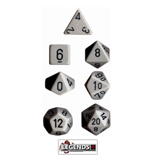 CHESSEX ROLEPLAYING DICE - Opaque Dark Grey/Black 7-Dice Set  (CHX 25410)