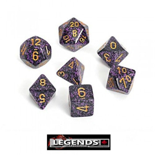 CHESSEX ROLEPLAYING DICE - Speckled Hurricane 7-Dice Set  (CHX25317)