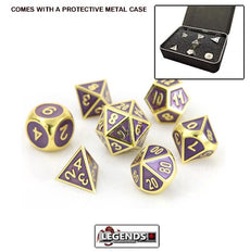 DIE HARD METAL DICE - Gold Amethyst - Gemstone Collection