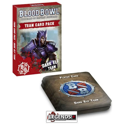 BLOOD BOWL - Blood Bowl Team Card Pack – Dark Elf Team