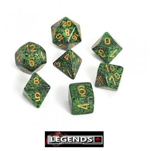 CHESSEX ROLEPLAYING DICE - Speckled Golden Recon 7-Dice Set  (CHX25335)