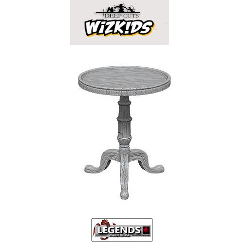 Deep Cuts Unpainted Miniatures:   Small Round Tables #WZK73365