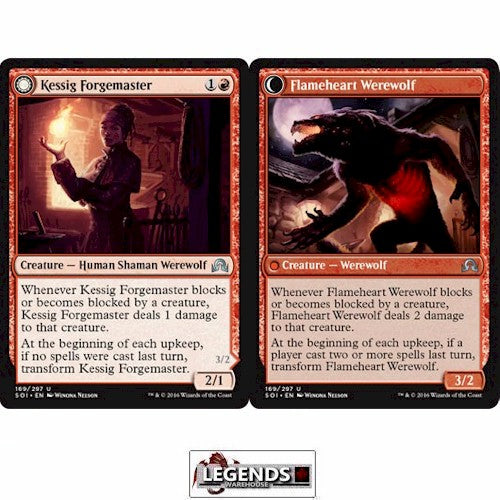 Kessig Forgemaster // Flameheart Werewolf - Shadows Over Innistrad