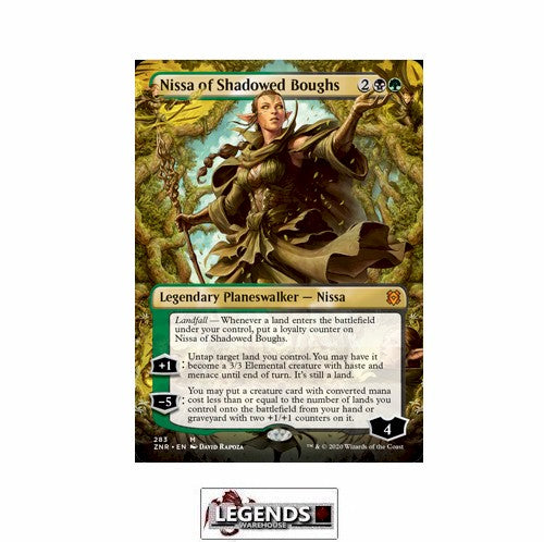 Nissa of Shadowed Boughs (Borderless) - Zendikar Rising