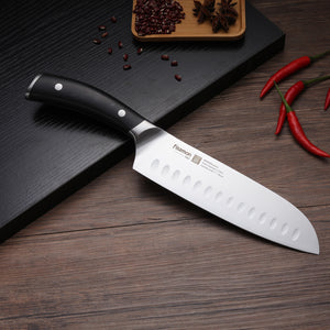 Santoku knife 7'' with raised dots KOYOSHI (X50CrMoV15 steel)