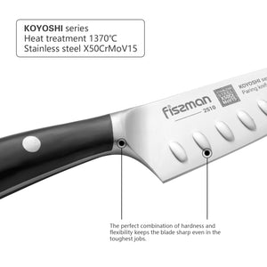 Paring knife 4'' with raised dots KOYOSHI (X50CrMoV15 steel)