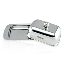 Load image into Gallery viewer, Butter dish with cover, Stainless Steel.