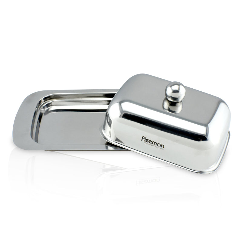 Butter dish with cover, Stainless Steel.