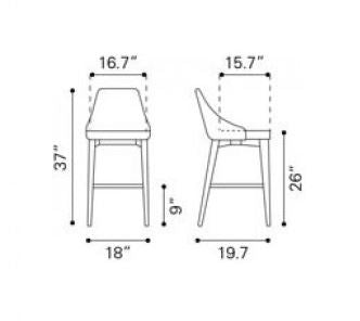 Moor Counter Chair Specs