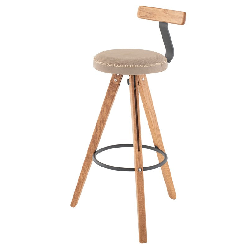 THEO BAR STOOL - GREY