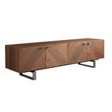 "Alvarado 71"" Media Stand   Media Unit Eurostyle, Old Bones Co  https://www.oldbonesco.com/"