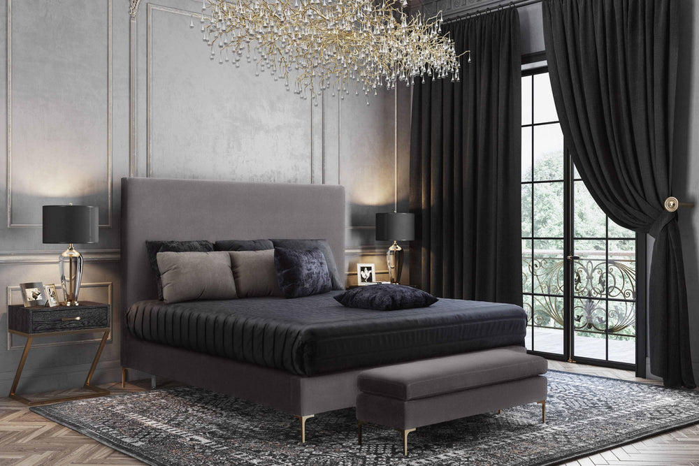 Delilah Textured Velvet Bed in Queen   Bed TOV Furniture, Old Bones Co  https://www.oldbonesco.com/