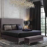 Delilah Textured Velvet Bed in Queen