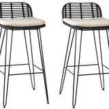 Bani Barstool Set of 2   Bar & Counter Stools Dovetail Four Hands, Mid Century Modern Furniture, Old Bones Furniture Company, https://www.oldbonesco.com/
