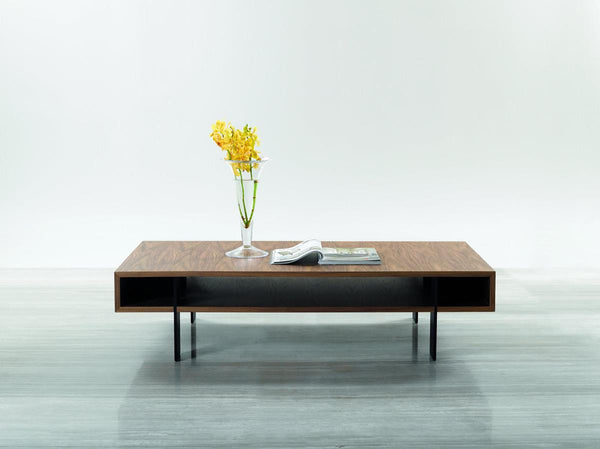 Stilt - Modern Walnut Coffee Table - Old Bones Furniture Company