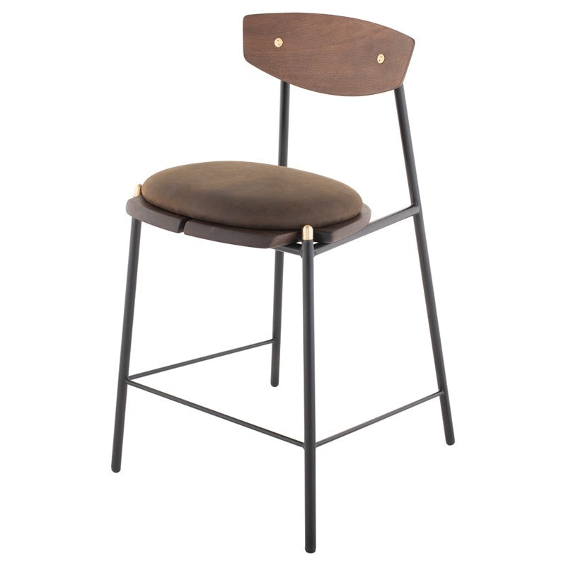 KINK COUNTER STOOL - SMOKED