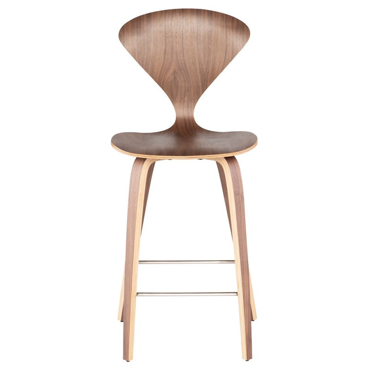 Satine Walnut Wood Counter Stool