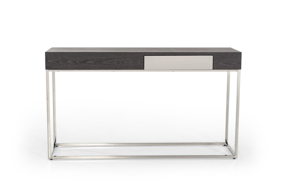 Vernon Modern Grey Elm Console Table   Console Table VIG Furniture, Old Bones Co  https://www.oldbonesco.com/