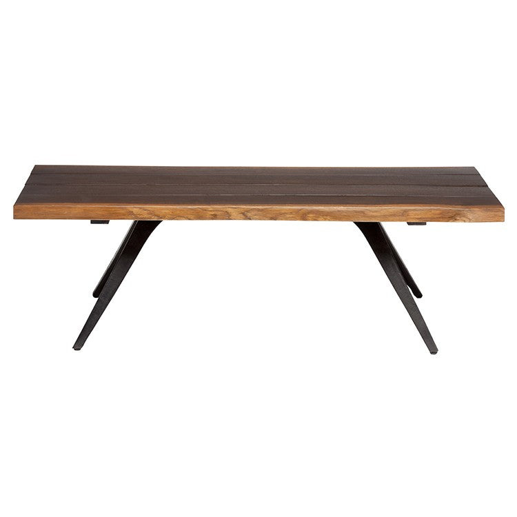 Vega Seared Wood Coffee Table   TABLE Nuevo Old Bones Furniture Company https://www.oldbonesco.com/