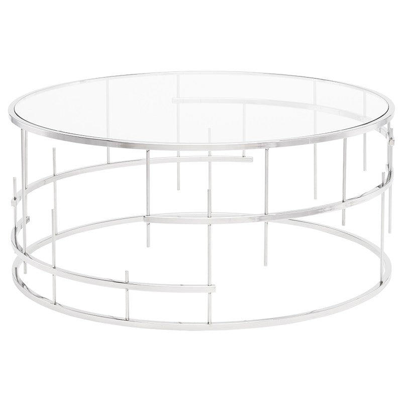 Tiffany Clear Glass Coffee Table