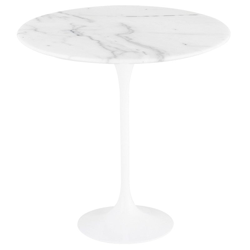 Jacob Stone Side Table - White