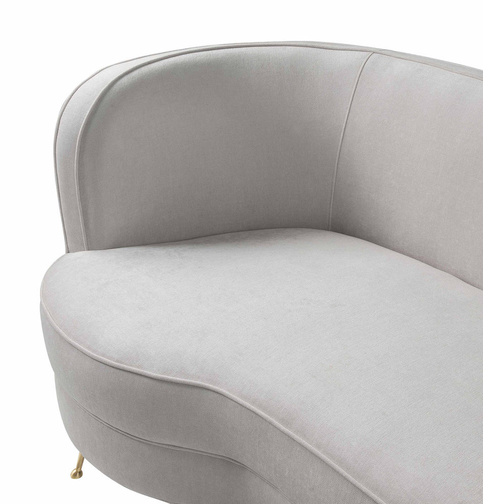Flare Cream Chenille Sofa   Sofa TOV Furniture Four Hands, Mid Century Modern Furniture, Old Bones Furniture Company, https://www.oldbonesco.com/