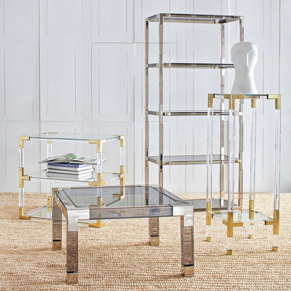 Jacques 2-Tier Side Table - Old Bones Furniture Company