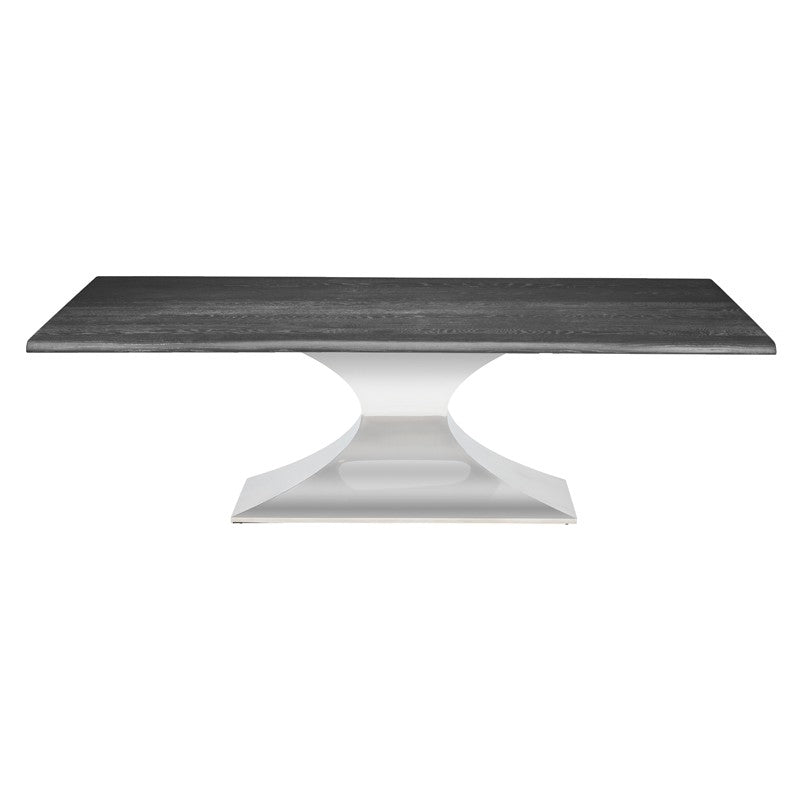 Praetorian Dining Table Small / Oxidized Grey Polished Stainless Small Dining Table Nuevo, Old Bones Co  https://www.oldbonesco.com/