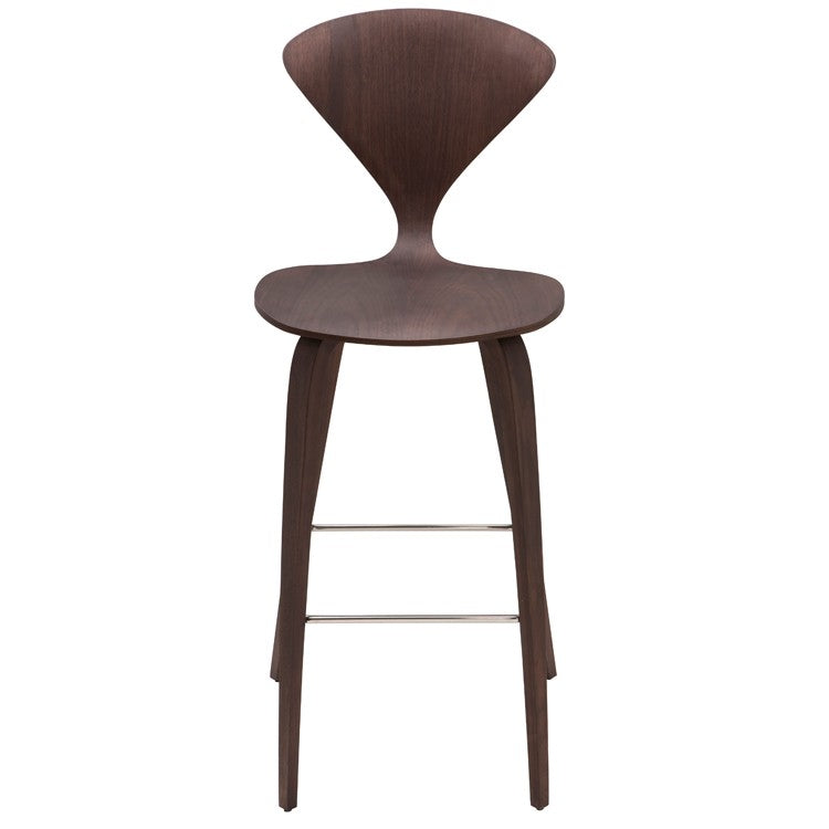 Satine Dark Walnut Wood Bar Stool