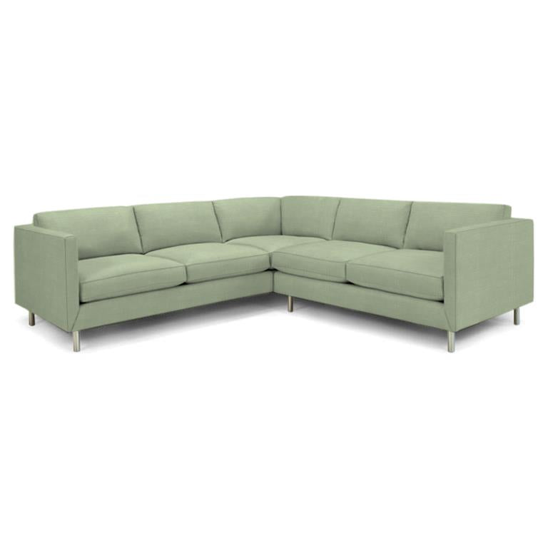 Topanga Sectional Right Arm Facing Basketweave - Old Bones Furniture Company
