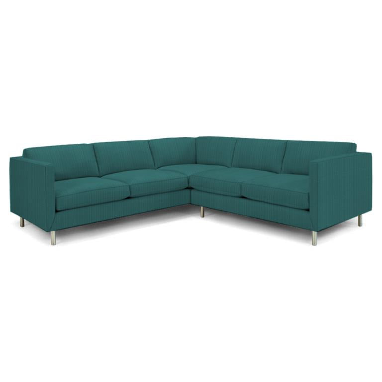 Topanga Sectional Right Arm Facing Sunbrella Dupione Sea Dupione Sea Sectionals Jonathan Adler Four Hands, Mid Century Modern Furniture, Old Bones Furniture Company, https://www.oldbonesco.com/