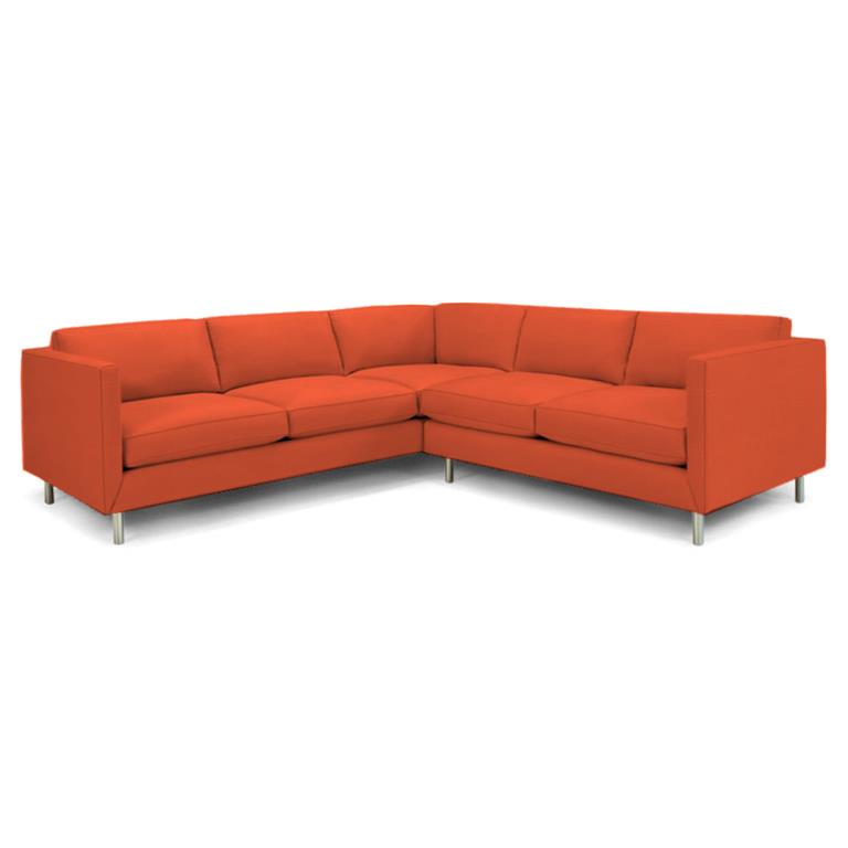 Topanga Sectional Right Arm Facing Sunbrella Sundial Melon Sundial Melon Sectionals Jonathan Adler Four Hands, Mid Century Modern Furniture, Old Bones Furniture Company, https://www.oldbonesco.com/