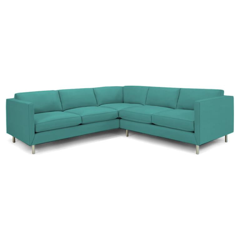 Topanga Sectional Right Arm Facing Sunbrella Sundial Ocean Sundial Ocean Sectionals Jonathan Adler Four Hands, Mid Century Modern Furniture, Old Bones Furniture Company, https://www.oldbonesco.com/