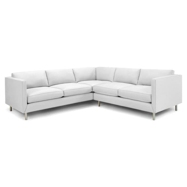 Topanga Sectional Right Arm Facing Sunbrella Sundial White Sundial White Sectionals Jonathan Adler Four Hands, Mid Century Modern Furniture, Old Bones Furniture Company, https://www.oldbonesco.com/