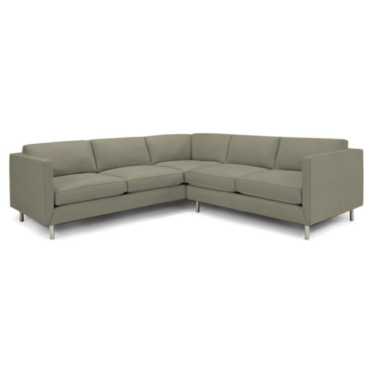 Topanga Sectional Right Arm Facing Linen Chalet Cement Chalet Cement Sofa Jonathan Adler Four Hands, Mid Century Modern Furniture, Old Bones Furniture Company, https://www.oldbonesco.com/