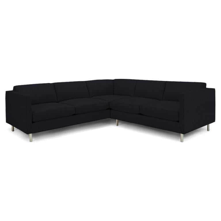 Topanga Sectional Right Arm Facing Linen Chalet Indigo Chalet Indigo Sofa Jonathan Adler Four Hands, Mid Century Modern Furniture, Old Bones Furniture Company, https://www.oldbonesco.com/