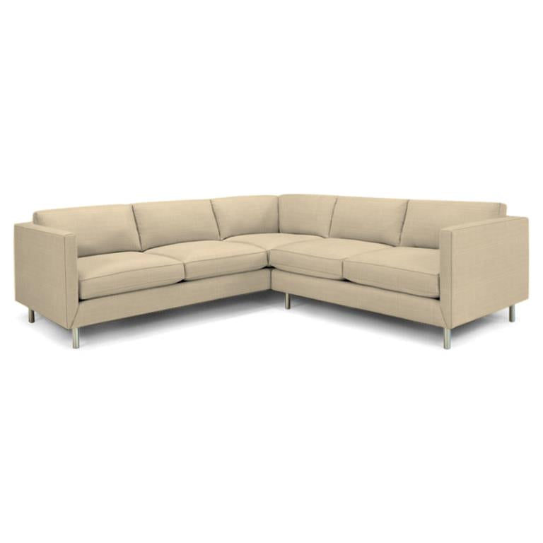 Topanga Sectional Right Arm Facing Linen Chalet Natural Chalet Natural Sofa Jonathan Adler Four Hands, Mid Century Modern Furniture, Old Bones Furniture Company, https://www.oldbonesco.com/