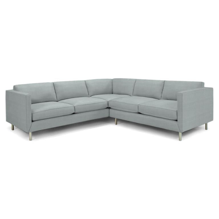 Topanga Sectional Right Arm Facing Linen Devere Cloud Devere Cloud Sofa Jonathan Adler Four Hands, Mid Century Modern Furniture, Old Bones Furniture Company, https://www.oldbonesco.com/