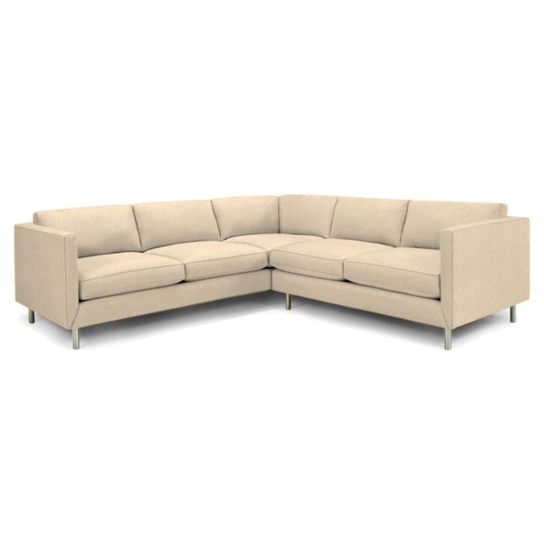 Topanga Sectional Right Arm Facing Linen Devere Creme Devere Creme Sofa Jonathan Adler Four Hands, Mid Century Modern Furniture, Old Bones Furniture Company, https://www.oldbonesco.com/