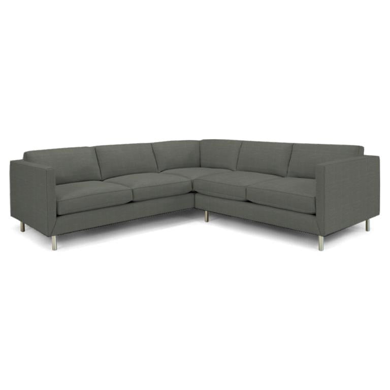 Topanga Sectional Right Arm Facing Linen Devere Platinum Devere Platinum Sofa Jonathan Adler Four Hands, Mid Century Modern Furniture, Old Bones Furniture Company, https://www.oldbonesco.com/