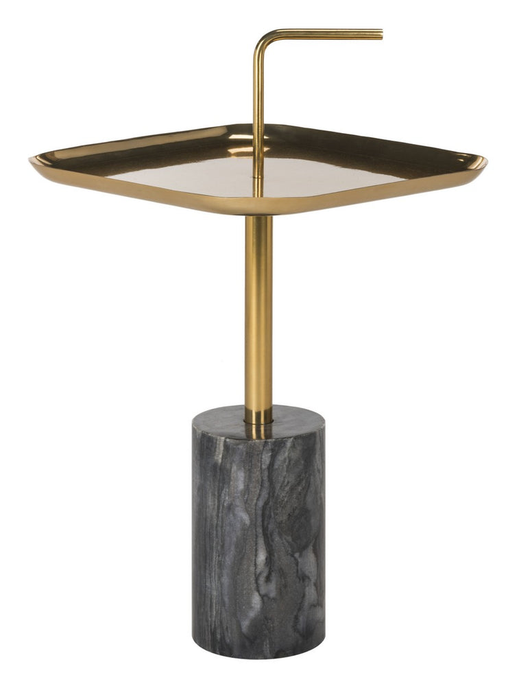 Artemis Square Brass Top Side Table