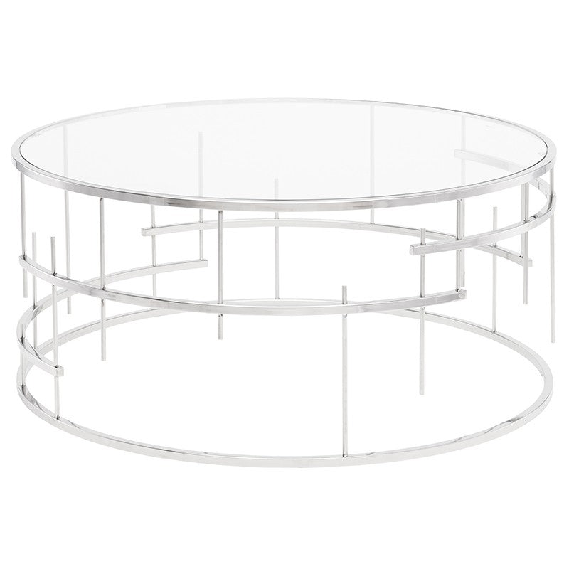Tiffany Clear Glass Coffee Table   Coffee Table Nuevo Four Hands, Mid Century Modern Furniture, Old Bones Furniture Company, https://www.oldbonesco.com/