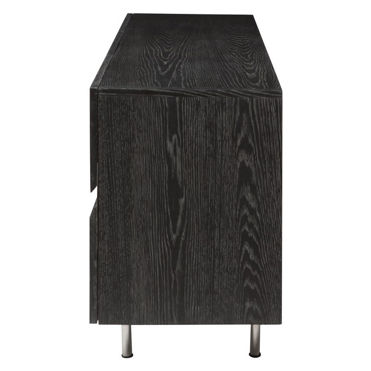 Sorrento Oxidized Grey Wood Sideboard Cabinet