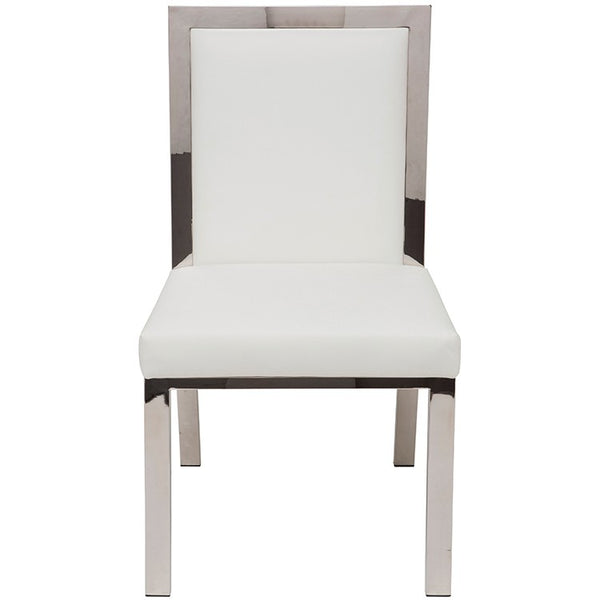 Groovy Rennes Dining Chair White Leather Pdpeps Interior Chair Design Pdpepsorg