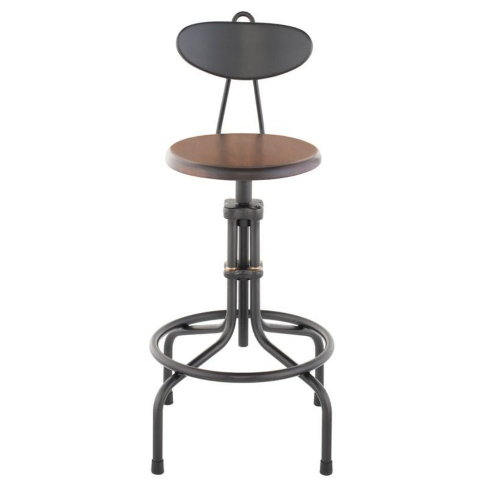 VS19C-b Adjustable Stool Stained Sapele Stained Sapele Counter Stools Nuevo, Old Bones Co  https://www.oldbonesco.com/