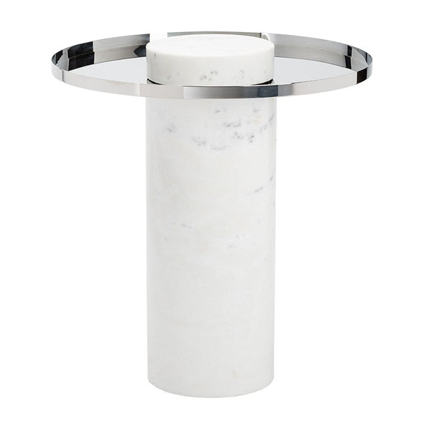 Pillar Marble Side Table